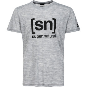 super.natural Essential I.D. T-Shirt Homme, ash melange/jet black logo
